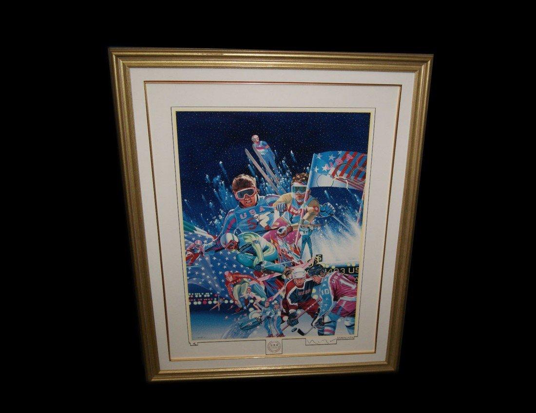 19: Hiro Yamagata Winter Olympics Serigraph - Signed