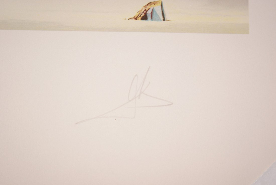 "48: Salvador Dali ""The Christ of Gala"" 3-D lithographs  - 4"