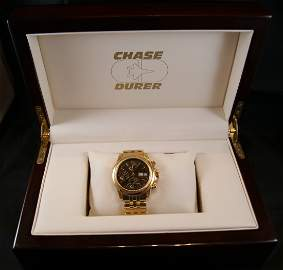 50: Chase-Durer 18kt Gold Swiss Fighter Command Watch