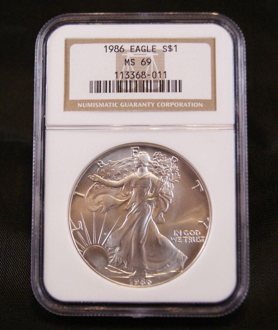 55: 1986 Silver American Eagle Coin