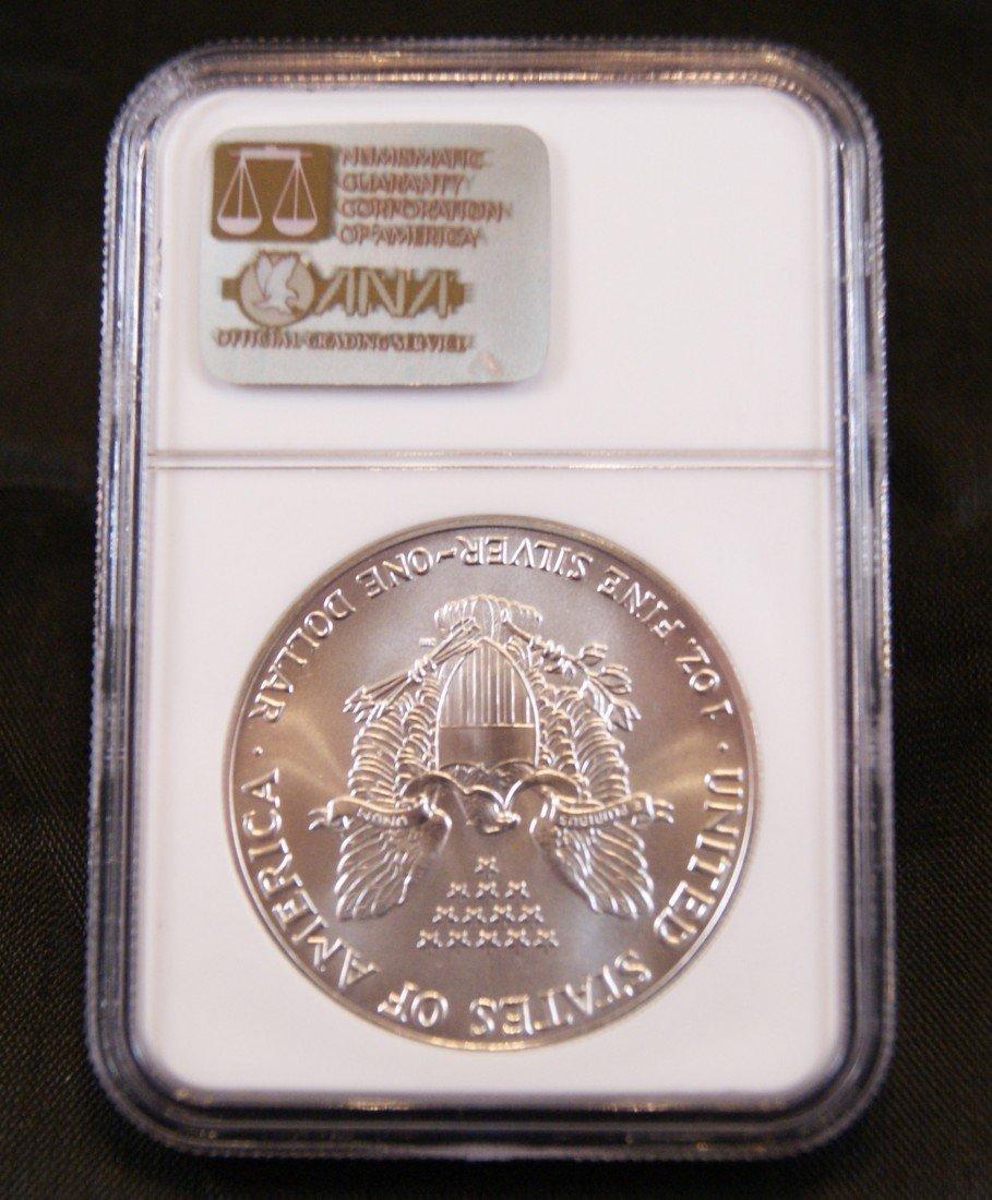 55: 1986 Silver American Eagle Coin - 2