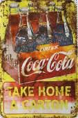 COCA-COLA METAL ADVERTISING SIGN