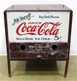 """EARLY """"FROSTEE BOTTLE COOLER""""  COCA-COLA"""