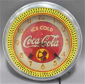 COCA-COLA NEON SPINNER CLOCK