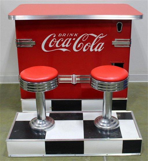 Pleasant Coca Cola Counter And Mounted Bar Stools 2 Aug 26 2019 Creativecarmelina Interior Chair Design Creativecarmelinacom