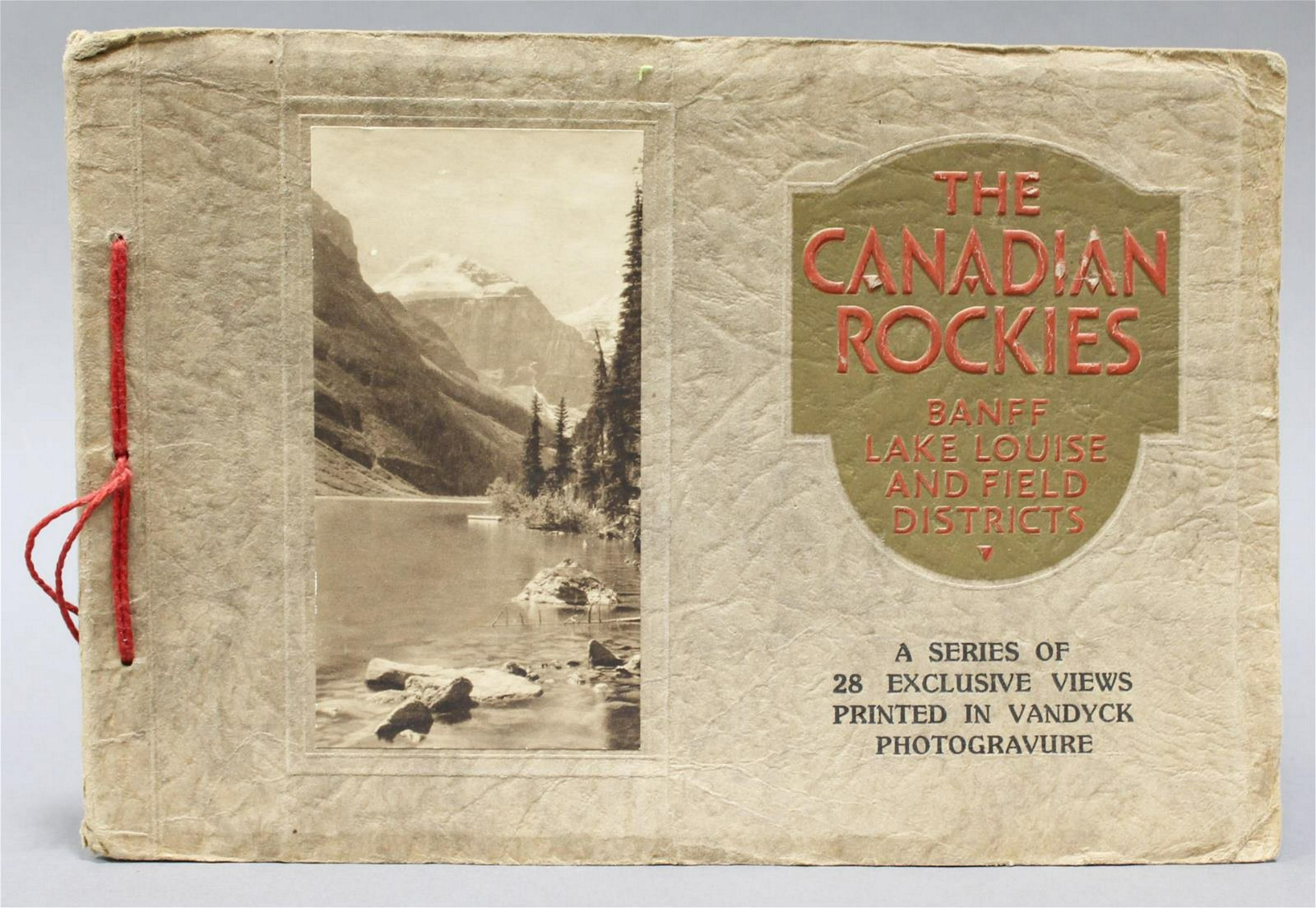THE CANADIAN ROCKIES PHOTOGRAVURE BOOKLET