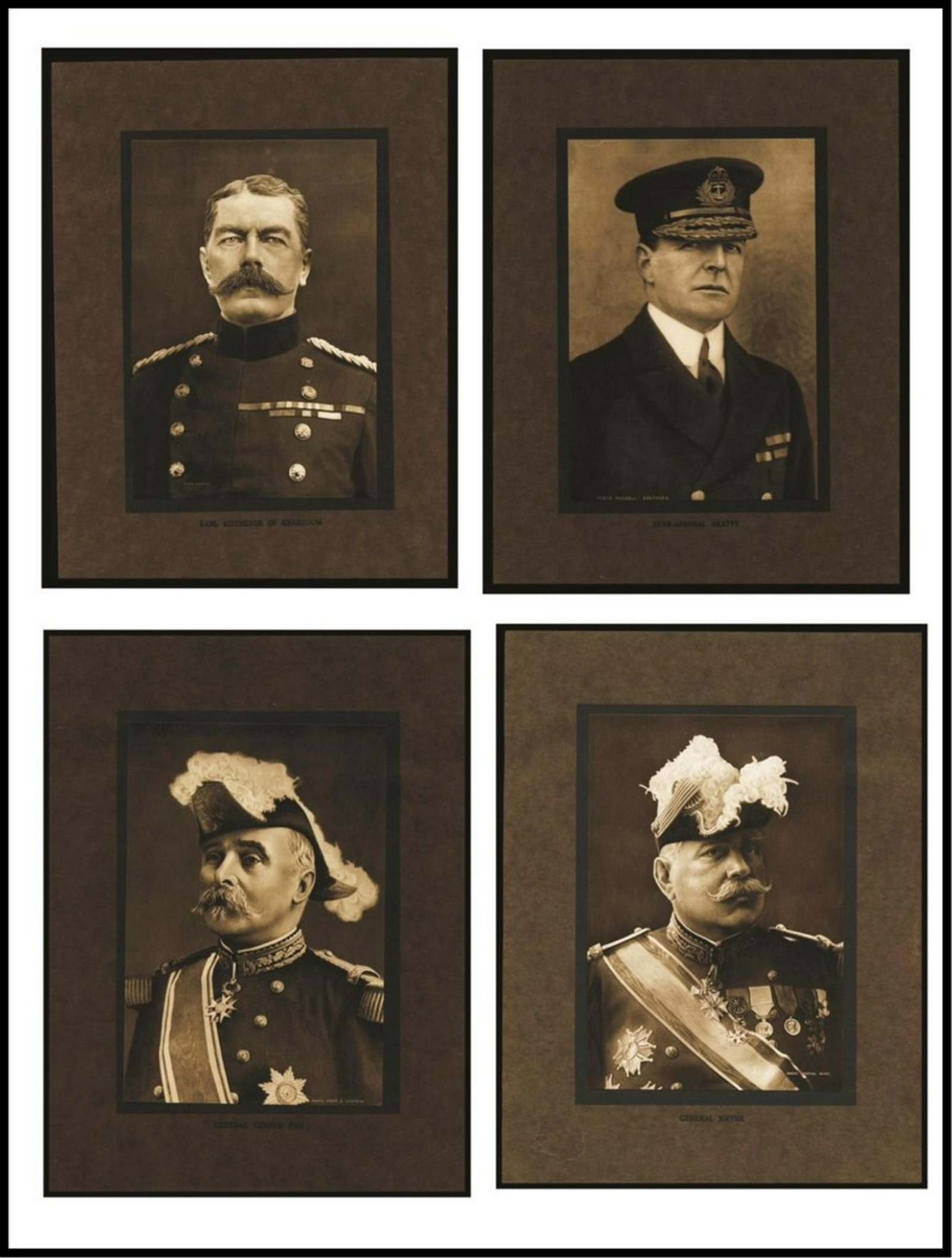 WW1-HERO'S/LEADERS of WW1 PHOTOGRAVURES