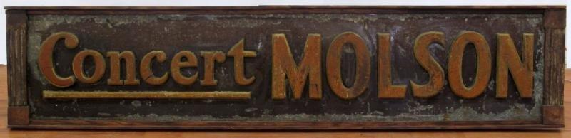 "10: ""CONCERT MOLSON"" ADVERTISING SIGN"