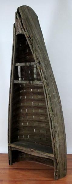16: PRIMITIVE CANOE SHELF / BOOKCASE - 2