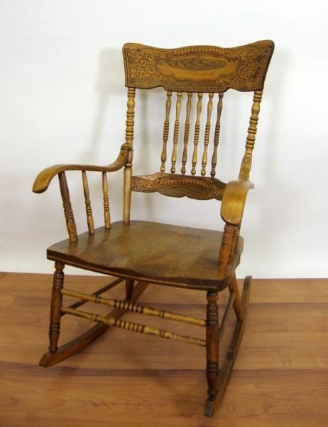 17: PRESSED BACK ROCKING CHAIR