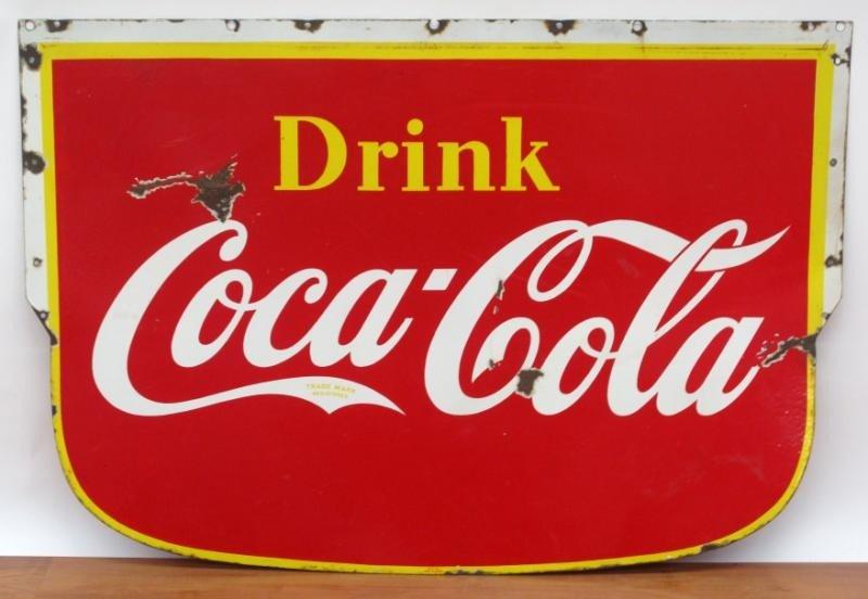 "20: ""DRINK COCA -COLA"" ADVERTISING SIGN"