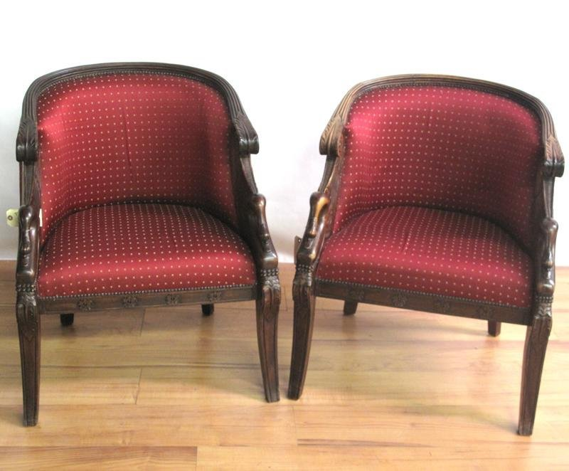 305: PAIR OF TUB CHAIRS