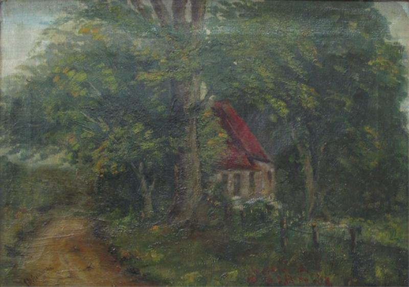 308: HISTORICAL OIL PAINTING SIGNED J. R. GILCHRIST