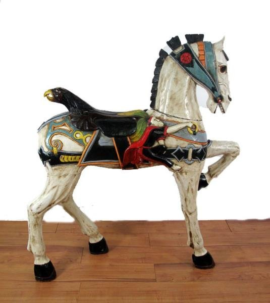 312: CAROUSEL STYLE HORSE