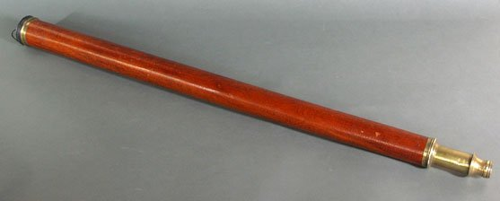 314: DOLLAND MAHOGANY AND BRASS DAY OR NIGHT TELESCOPE