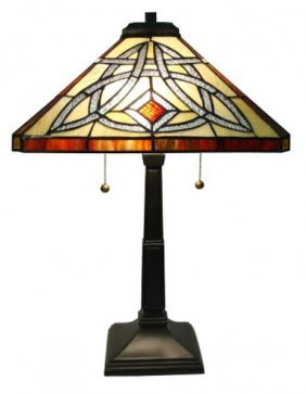 604: MISSION STYLE TABLE LAMP