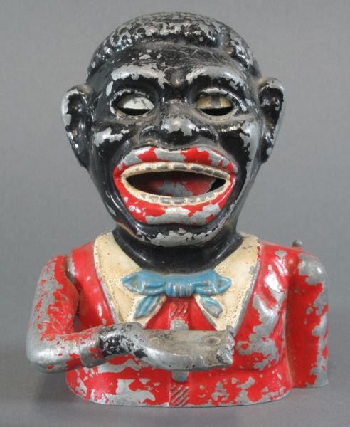 "11: BLACK AMERICANA COLLECTIBLES -""Greedy Nigger Boy"" m"