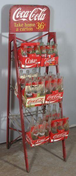 57: COCA COLA STORE BOTTLE RACK -take home a carton, 36