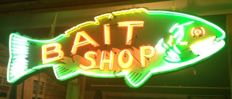 116: 14' BAIT SHOP NEON FISH SIGN