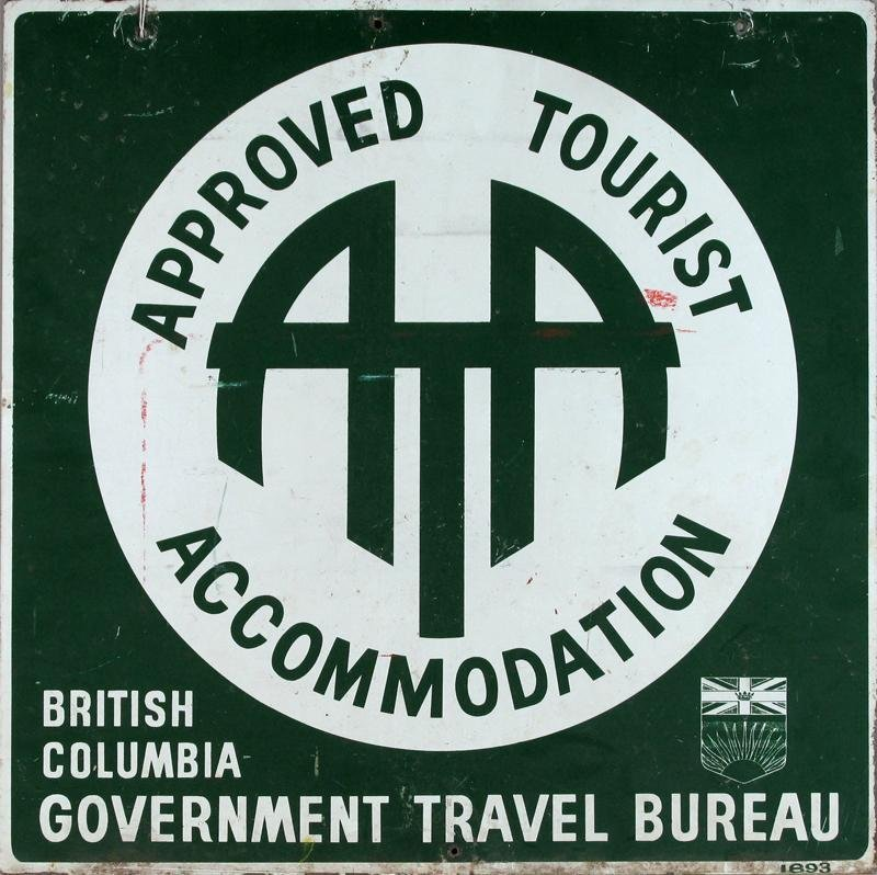 ATA TOURIST SIGN, DOUBLE SIDED