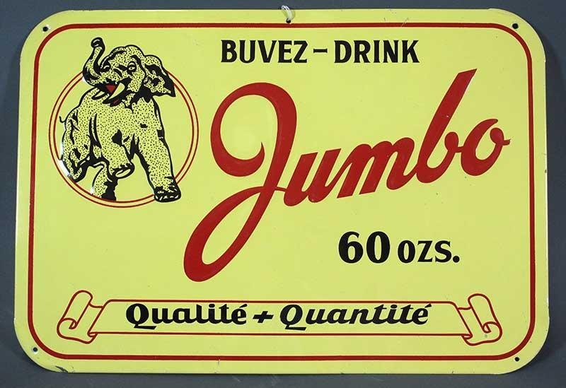 DRINK JUMBO ADVERTISING SIGN