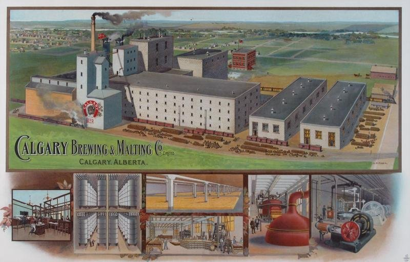 CALGARY BREWING & MALTING CO. LITHOGRAPH, 1911