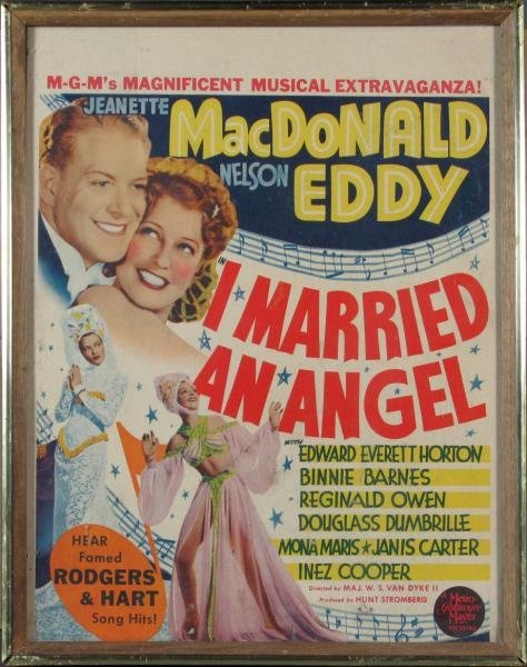 """FRAMED """"I MARRIED AN ANGEL"""" MOVIE POSTER"""