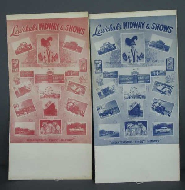 LEW'CHUK'S MIDWAY & SHOWS ADVERTISING POSTERS (2)
