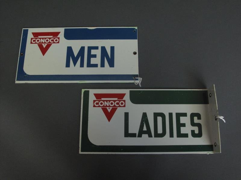 CONOCO SERVICE STATION REST ROOM SIGNS (2)