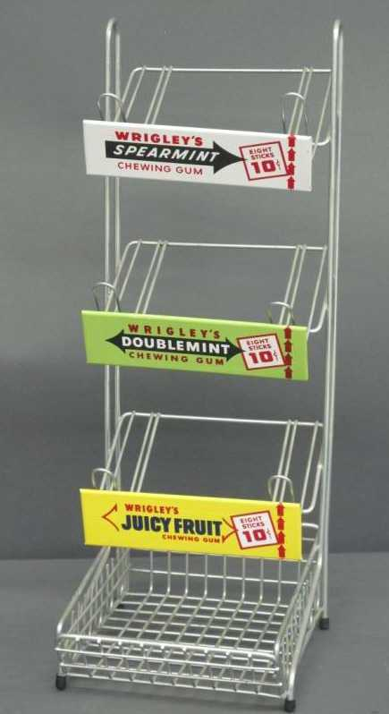 WRIGLEY'S CHEWING GUM COUNTERTOP DISPLAY RACK Adorable Wrigley's Chewing Gum Display Stand