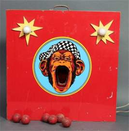MONKEY FACE CIRCUS MIDWAY BALL TOSS GAME