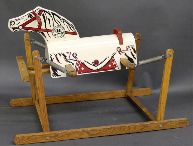 RICH TOYS DAVY CROCKETT ROCKING HORSE