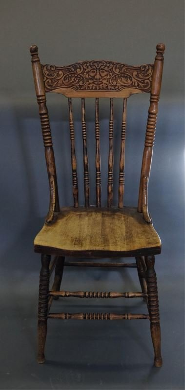 CANADIANA PRESS BACK CHAIR