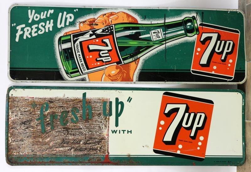 7-UP TIN LITHO ADVERTISING SIGNS (2)