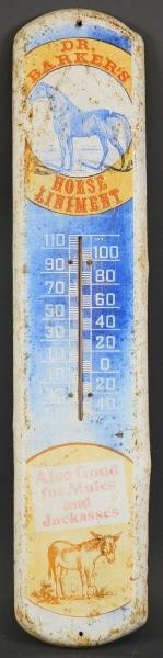 HORSE LINIMENT ADVERTISING THERMOMETER