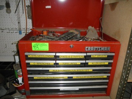 84: CRAFTSMAN TOOL BOX AND CONTENTS