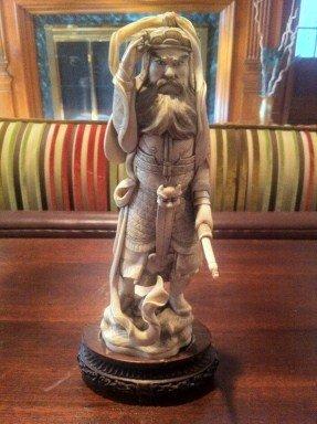 18: Ivory Samurai Statue (Small)
