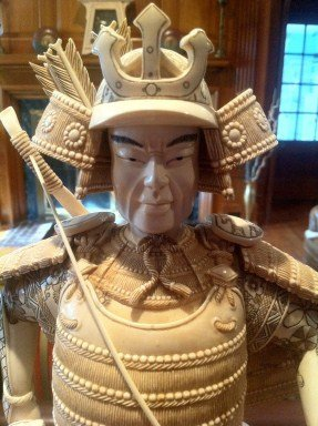 22: Ivory Samurai Statue