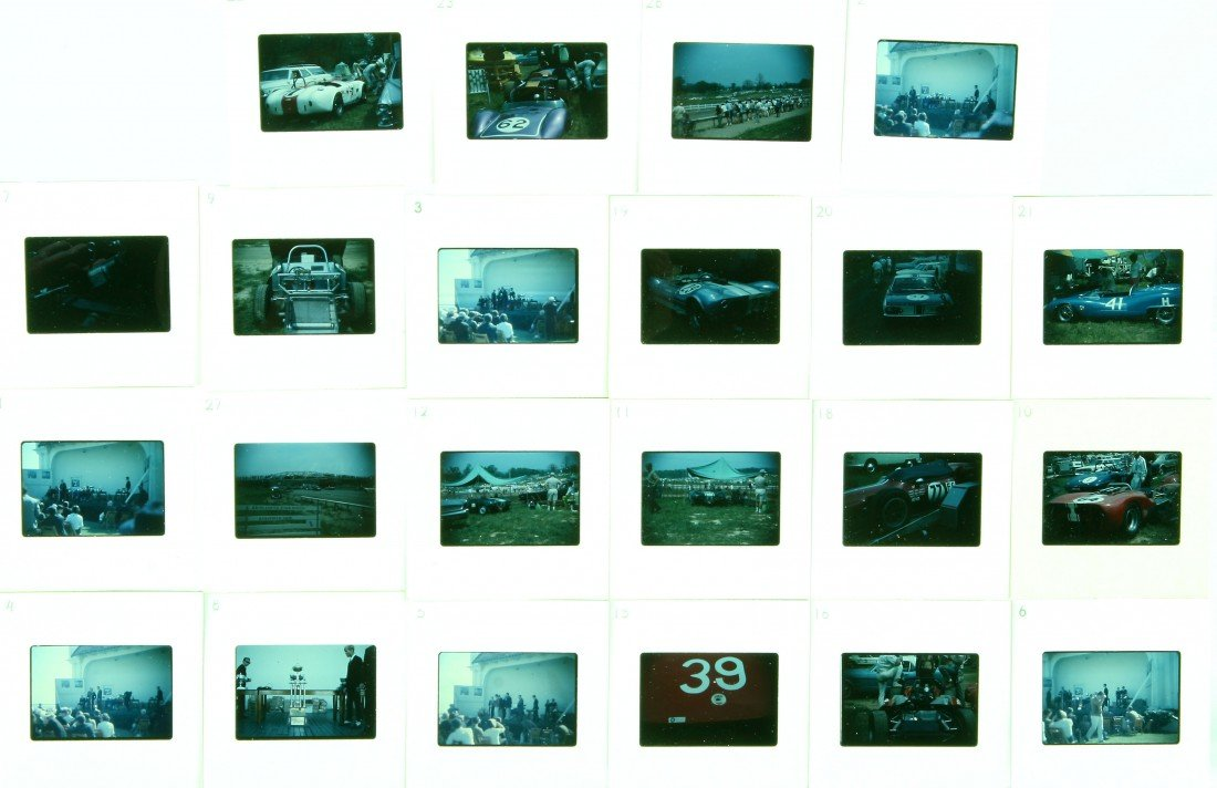 501: 22 Color Slides - Trophies/Racing Cars Sebring and