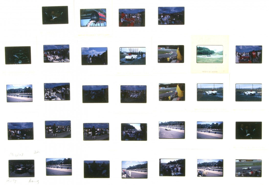 511: 32 Color Slides - Auto Racing 1966 & Others