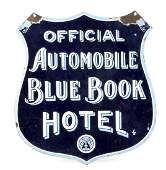 589: Porcelain on Metal, Double Sided Sign - Official A