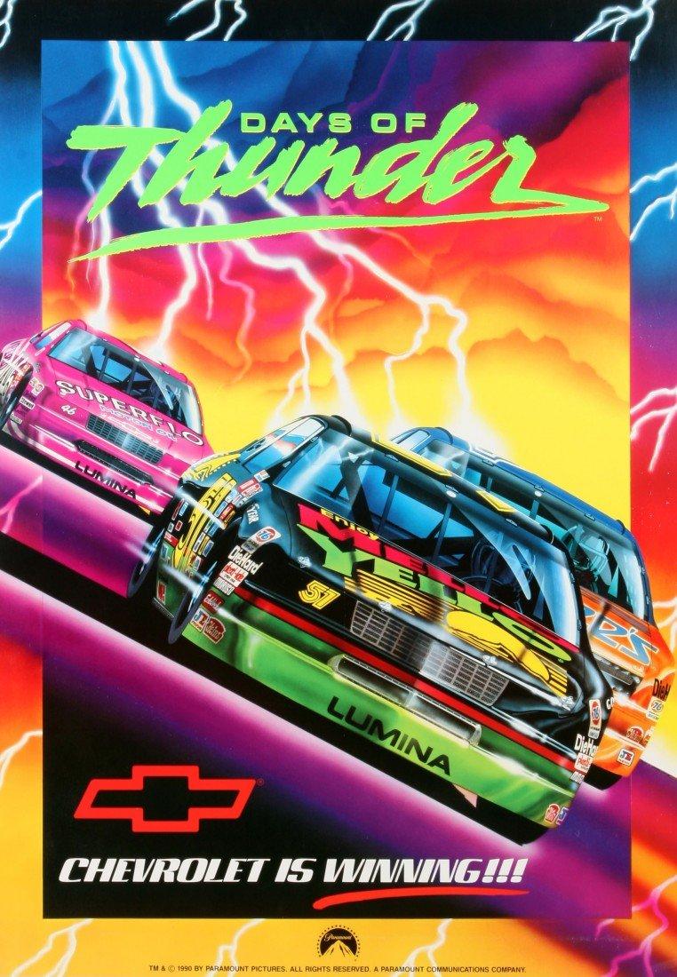 "624: 1990 Paramount Movie Poster - ""Days of Thunder"""