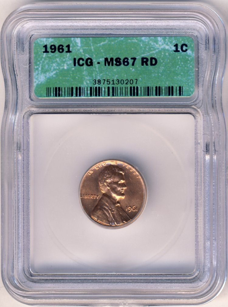 1961P LINCOLN 1c ICG MS67 RED
