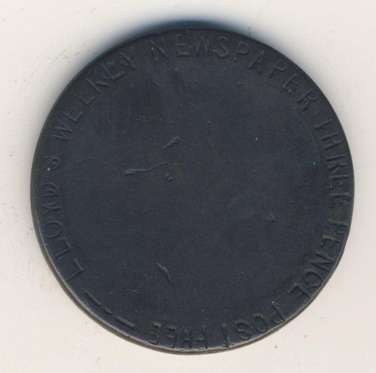 19th CENTURY ENGLAND LLOYDS WEEKLY TOKEN - 2