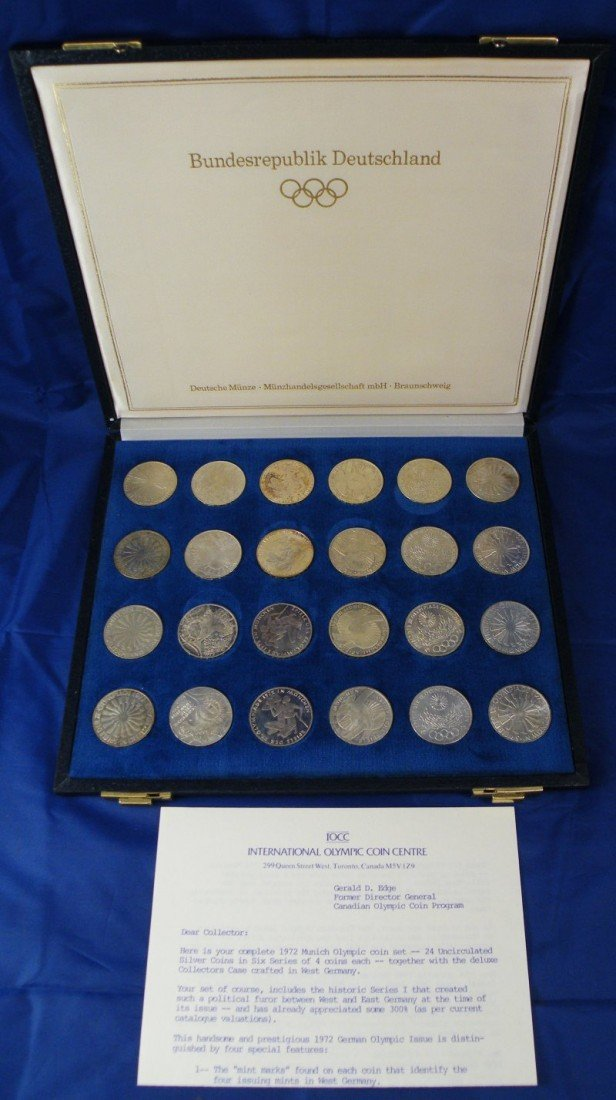1972 MUNICH OLYMPIC COIN SET 24PC