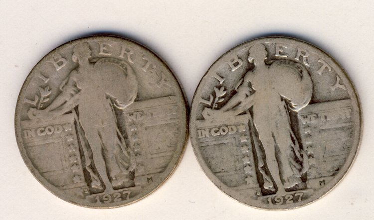 1927-S STANDING LIBERTY QUARTER GOOD CONDITION