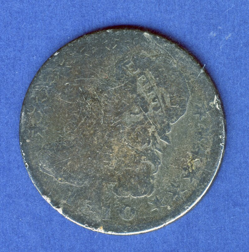 1810 AG ALMOST GOOD CAPPED BUST HALF DOLLAR .50 C