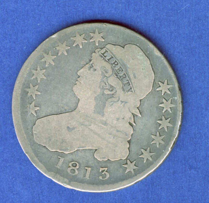 1813 CAPPED BUST HALF DOLLAR .50 CENT G GOOD