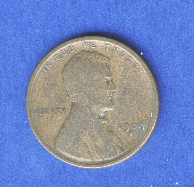 1909-S LINCOLN 1C PENNY G GOOD