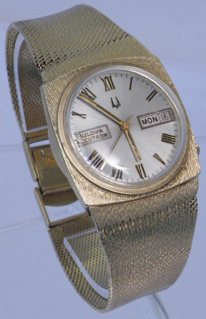 75G SOLID 14K GOLD BULOVA ACCUTRON WATCH